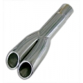 1967-69 DUAL EXHAUST TIPS - GT ROLLED LIP