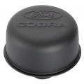 "1964-73 BREATHER CAP, ""COBRA""- SATIN BLACK, PUSH IN STYLE"