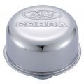 "1964-73 BREATHER CAP, ""COBRA""- POLISHED, PUSH IN STYLE"