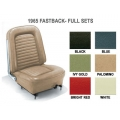 1965 UPHOLSTERY, STANDARD, 2+2, Red, full set with buckets.