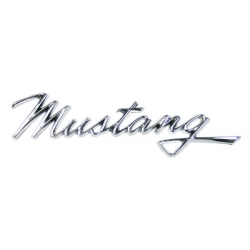 "1968 ""Mustang"" Name Plate (for front fender and GT/CS rear deck)"