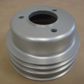 "1969 BILLET ALUMINUM ENGINE PULLEY - CS, 302/351-2V, 6-1/8"", 3 GROOVES, SILVER"