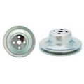 1965-66 CHROME ENGINE PULLEY - WP, 5-7/8""