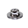 "1964-73 CHROME ENGINE PULLEY - SMOG, WP, 5-7/8"", 3 GROOVE"