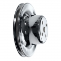 1965-66 CHROME ENGINE PULLEY - WP, 289, 6-3/16""