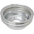 "1965-69 BILLET ALUMINUM SILVER ENGINE PULLEY - WP, 289/302/351W-2V, WP, 5-7/8"", 2 GROOVES"