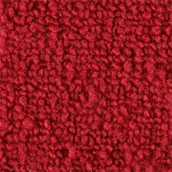1965-70 Mustang Fastback Nylon Fold Down Carpet (Bright Red)