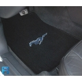 1964-73 EMBROIDERED FLOOR MATS CONVT. BLACK