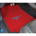 1964-73 EMBROIDERED FLOOR MATS CONVT. RED