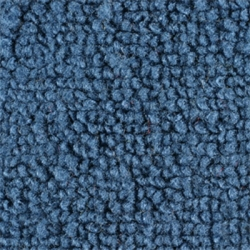 1965-70 Mustang Fastback Nylon Fold Down Carpet (Medium Blue)