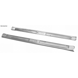 1969-70 Stainless Steel Door Sill Scuff Plates, All Body Styles (Pair)