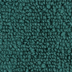 1965-66 Mustang Coupe Nylon Complete Trunk Carpet Kit (Turquoise)