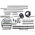 1969-70 CONVERTIBLE WEATHERSTRIP KIT