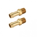 1964-65 BRASS RADIATOR FITTING FOR TRANSMISSION COOLER LINES (2)