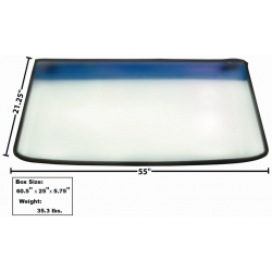 1965-68	Front Windshield Glass with rubber seal