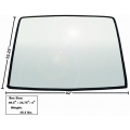 1967-68	Rear Window Glass with rubber seal
