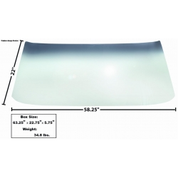 1969-70	Front Windshield Glass with rubber seal