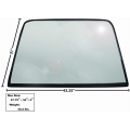 1969-70Rear Window Glass with rubber seal