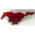 1994-2004 RED RUNNING GRILLE HORSE EMBLEM