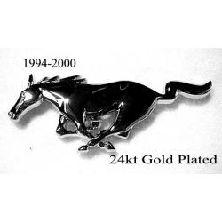 1994-2004 RUNNING HORSE EMBLEM GRILLE 24K GOLD PLATED