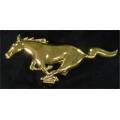 1965-1967 24 KT GOLD RUNNING HORSE GRILLE EMBLEM