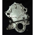 1965-1966 TIMING CHAIN COVER WITH CAST IN TIMING POINTER, 289/302/351W ENGINES