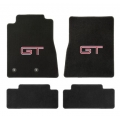 79-93 Floor Mats, Black w/Red GT Emblem