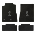 64-73 Floor mats, black w/Cobra emblem (convertible)