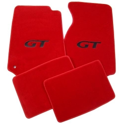 79-93 Floor Mats, Red w/Black GT Emblem