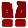 79-93 Floor Mats, Red w/Cobra Emlem