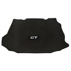 2010-present Trunk Mats for Mustang GT/Shelby convt - no shaker 1000 plain w/GT (Silver/blk Center) Emblem
