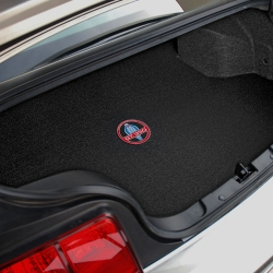 08-09 Trunk mats for Mustang Shelby GT500 Coupe - No Shaker 1000 w/Shelby Snake GT500 Circle