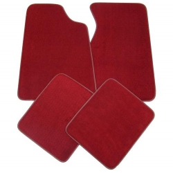 2011 Floor mats, red - No Emblem
