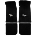 64-73 Floor Mats, Black w/Silver Pony Emblem (Coupe)
