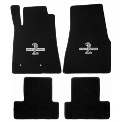 65-70 Floor mats, Black w/Shelby Word & Snake (Coupe)