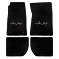 65-70 Floor mats, Black w/Shelby Signature