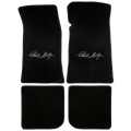 65-70 Floor mats, Black w/Shelby Signature (Coupe)