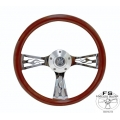 "1964-69 14"" Flame Wood Steering Wheel"