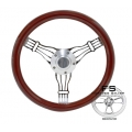 "1964-69 14"" Discord Light Wood Steering Wheel"