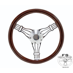 "1964-69 14"" Discord Dark Wood Steering Wheel"