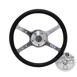 "1965-69 14"" LAKESTER:DUAL Half Wrap Steering Wheel"