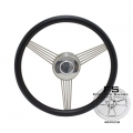 "1965-69 14"" TRUE BANJO:BLACK Steering Wheel"