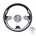 "1964-69 12.5"" PURSUIT:PERFORMANCE II SILVER Steering Wheel"