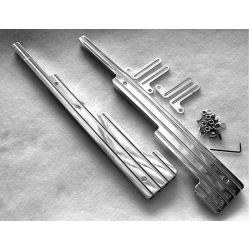 Linear Wire Loom (Chrome Ball Milled)