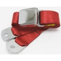 "Bright Red 1 Passenger 2 Point Lap Lift w/ Chrome Aviation Belt Buckle (60"")"