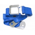 "Cobalt Blue 1 Passenger 2 Point Lap Belt w/ Chrome Aviation Lift Buckle (60"")"