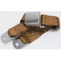 "Copper 1 Passenger 2 Point Lap Belt w/ Chrome Aviation Lift Buckle (60"")"