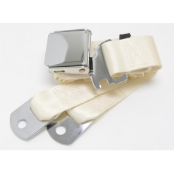 "Ivory 1 Passenger 2 Point Lap Belt w/ Chrome Aviation Lift Buckle (60"")"