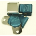 "Medium Turquoise 1 Passenger 2 Point Lap Belt w/ Chrome Aviation Lift Buckle (60"")"