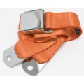 "Orange 1 Passenger 2 Point Lap Belt w/ Chrome Aviation Lift Buckle (60"")"